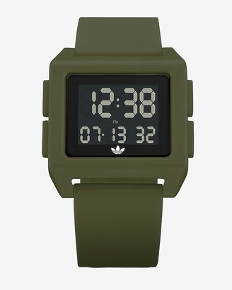 Express Adidas Men'S Archive Sp1 Green Silicone Watch