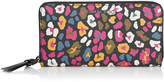 Jimmy Choo PIPPA Cerise Mix Leopard Print Coated Canvas Zip Around Wallet