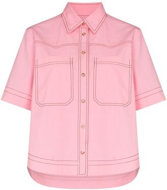 Lee Mathews May contrast stitching cotton shirt