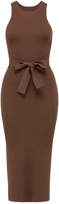 Forever New Ivy Racer Column Knit Midi Dress - Chocolate - 10