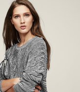 Reiss Aida Structured Cropped Jumper