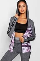 boohoo Carrie Fit 'Run' Slogan Gym Jacket