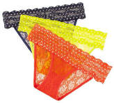 B. Tempt'D By Wacoal Three-Pack Lace Bikini Panties