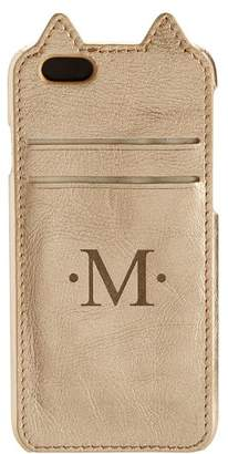 Pottery Barn Teen The Emily &amp Meritt Collection Phone Case, Gold Leather