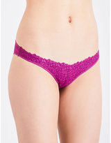 Free People Aphrodite lace and mesh briefs