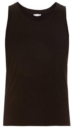 Dolce & Gabbana Set Of Two Cotton Jersey Vests - Mens - Black