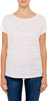 BOSS ORANGE Tamixi Cap Sleeve Stripe Tee W/ Printed Back