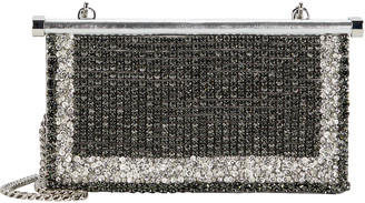 Valentino Carry Secrets Embellished Leather Clutch