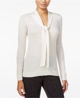 Maison Jules Tie-Neck Sweater, Only at Macy's