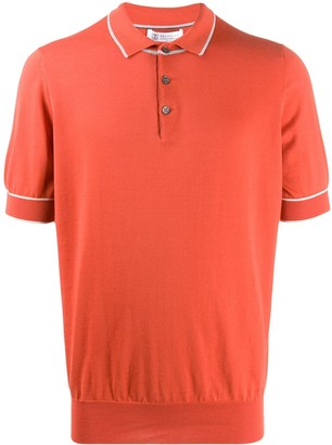 Brunello Cucinelli Short-Sleeved Trimmed Polo Shirt