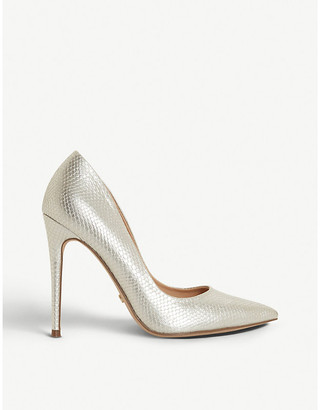 Dune Astrid metallic faux-leather courts