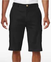 """Sean John Men's Big & Tall Lightweight Linen Cargo 12.5"""" Stretch Shorts"""