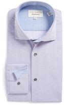 Ted Baker Split Dot Trim Fit Dress Shirt