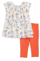 Splendid Girl's Geo Dot Print Top & Leggings Set