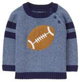 Gymboree Blue Football Appliqué Crewneck Sweater - Infant