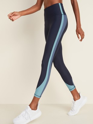 Old Navy High-Waisted Elevate Powersoft Color-Blocked 7/8-Length Leggings for Women