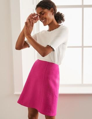 Poppy Boiled Wool Skirt