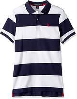 U.S. Polo Assn. Men's Slim Fit Stripe Short Sleeve Pique Polo Shirt