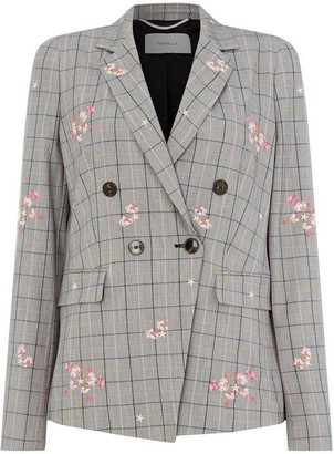 Marella Taiga check and floral jacket
