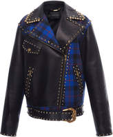 Versace Leather Checked Jacket