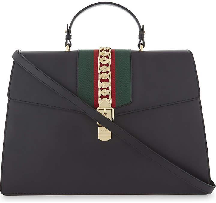 Gucci Sylvie maxi leather shoulder bag