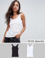 New Look Petite 2 Pack Classic Singlets
