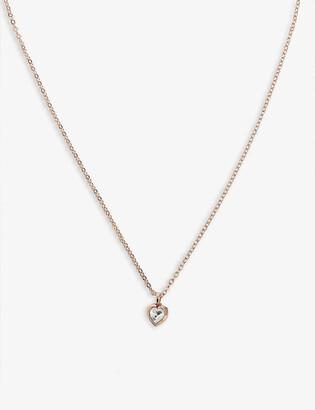 Ted Baker Hannela crystal heart necklace