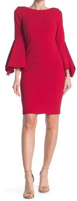 Calvin Klein Big Sleeve Sheath Dress
