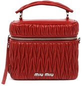 Miu Miu Red Handbag In Matelasse Effect Leather