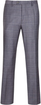 Deconstructed Checked Suit Trousers