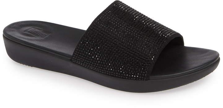 new concept f1377 1429d Sola Crystal Embellished Slide Sandal