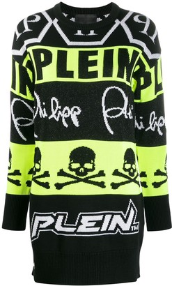 Philipp Plein neon knit jumper dress