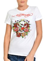 Ed Hardy Womens Love Dies Hard Graphic Tee Shirt