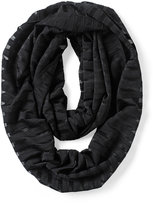 White House Black Market Black Shadow Stripe Infinity Scarf