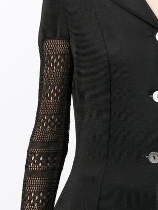 John Galliano Pre-Owned Open-Knit Sleeved Layered Cardigan