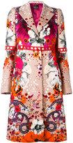 Roberto Cavalli Garden Of Eden coat - women - Cotton/Polyester/Spandex/Elastane/Viscose - 44