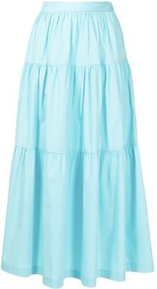 STAUD Sea tiered full skirt