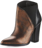 Charles David Charla Asymmetric Skived Leather Bootie, Bronze