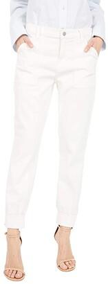 J Brand Arkin Zip Ankle Joggers (Angel White) Women's Casual Pants