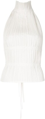 Dion Lee Pleated Open-Back Top