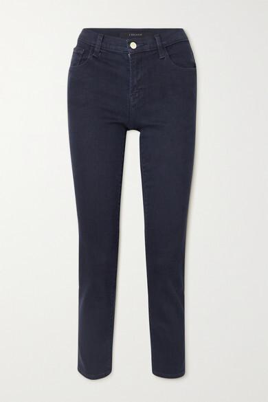 Thumbnail for your product : J Brand Adele Mid-rise Straight-leg Jeans - Dark denim