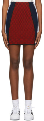 adidas Red Paolina Russo Edition Ribbed Mini Skirt