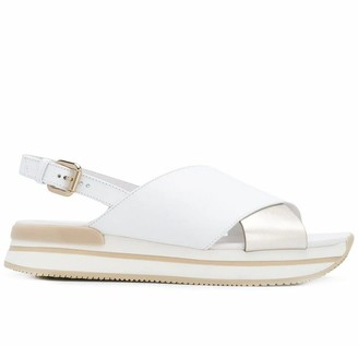 Hogan White H222 Sandals