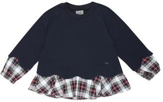 Il Gufo Checked stretch-cotton sweatshirt