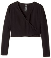 Bloch Crossover Cardigan (Toddler/Little Kids/Big Kids) (Black) Girl's Sweater