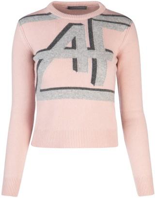 Alberta Ferretti Logo Knitted Sweater