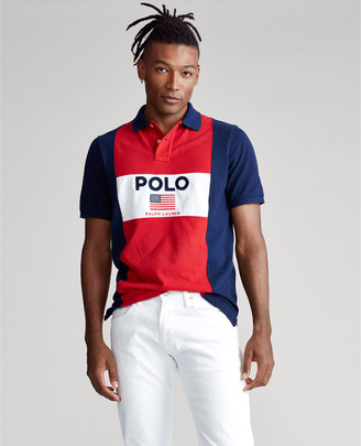 Ralph Lauren Custom Slim Fit Flag Mesh Polo