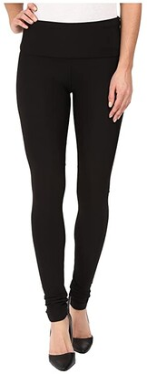 Plush Fleece-Lined High Waisted Matte Spandex Leggings (Black) Women's Casual Pants