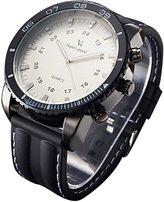 Next Men's Steel Case Rubber Band Quartz Analog Wrist Watch WTH1041