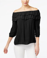 INC International Concepts Off-The-Shoulder Ruffled Top, Only at Macy's